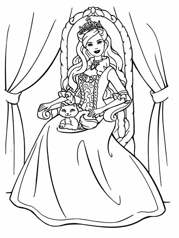 Barbie coloring page (5)