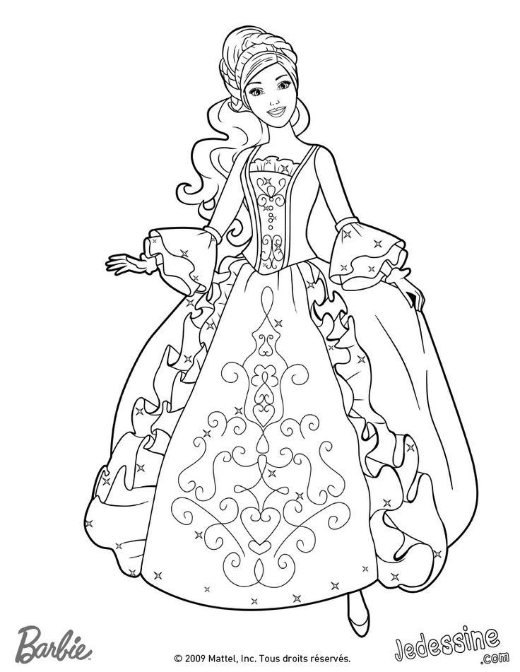 Barbie coloring page (51)