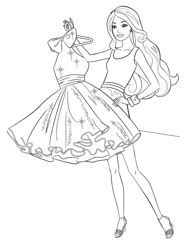 What to choose for today barbie wardrobe coloring page