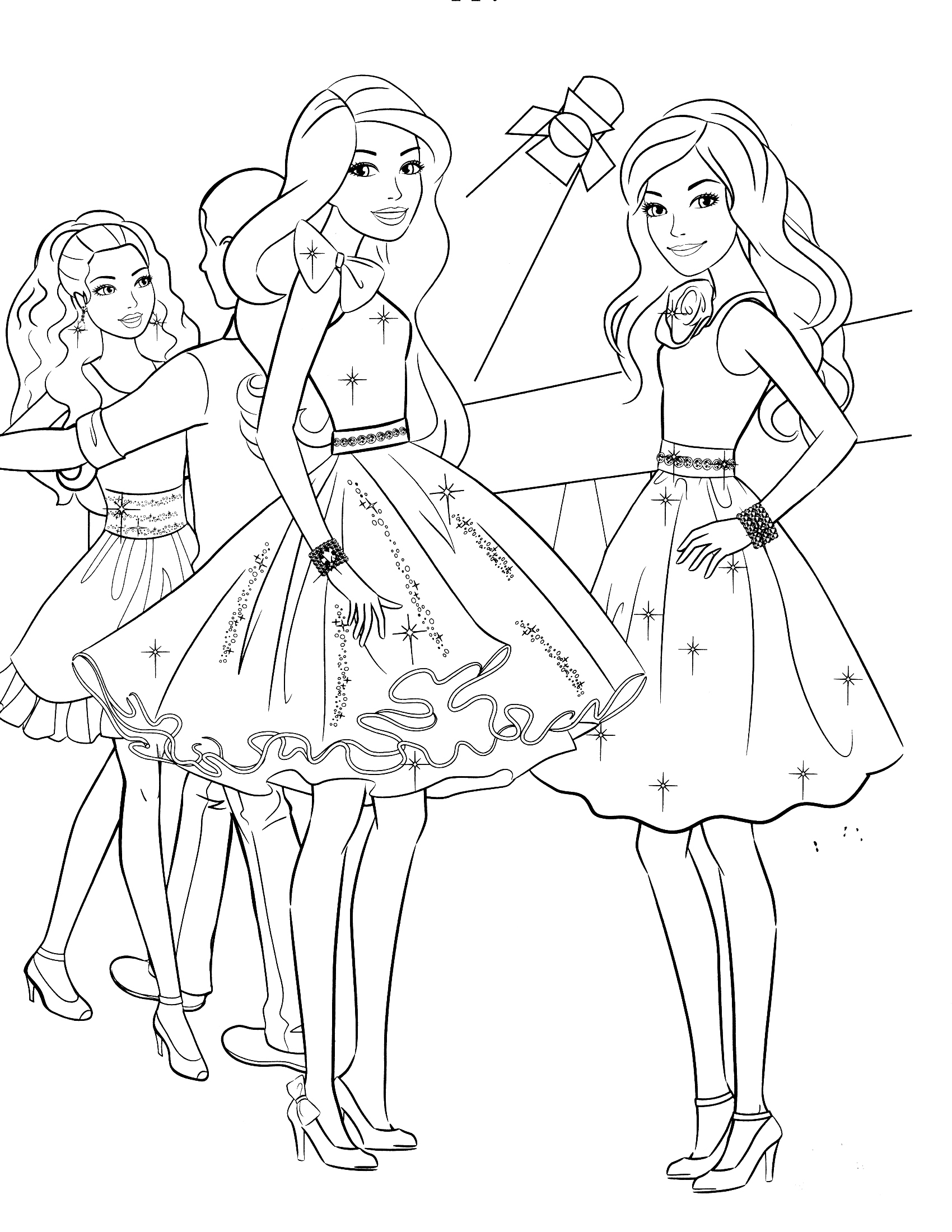 Printable coloring pages tangled -  Templates Printable Disney Holiday Coloring Pages Tangled Coloring Page 85 Barbie Coloring Pages For Girls Barbie