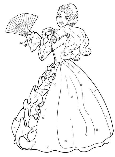 Barbie coloring page (72)