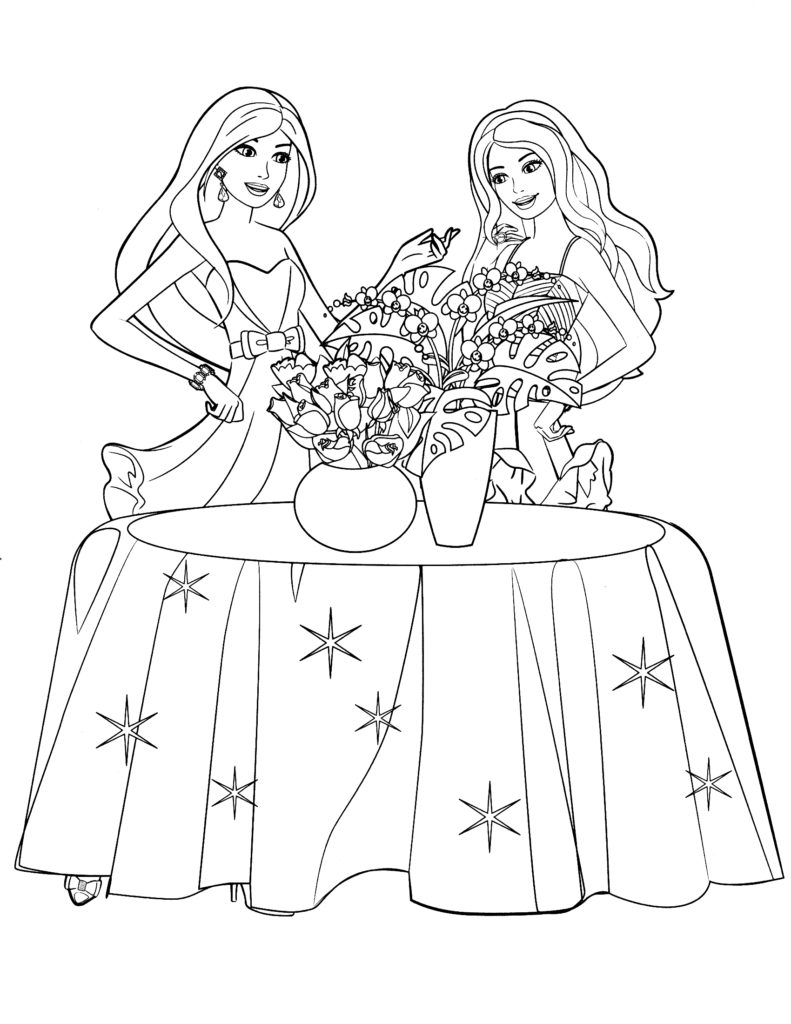 Barbie coloring page (8)