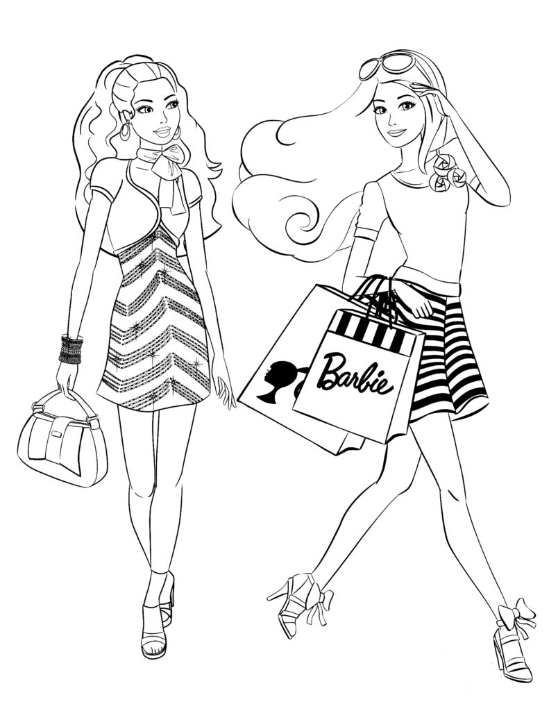 Barbie coloring page (9)