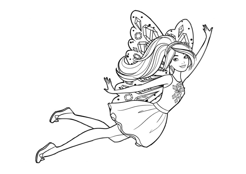 Cute Barbie Coloring Pages for Girls Print Color Craft