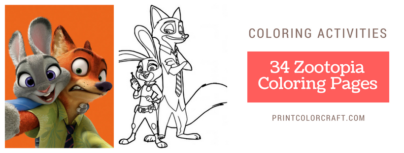 34 Zootopia Coloring Pages { All Characters}