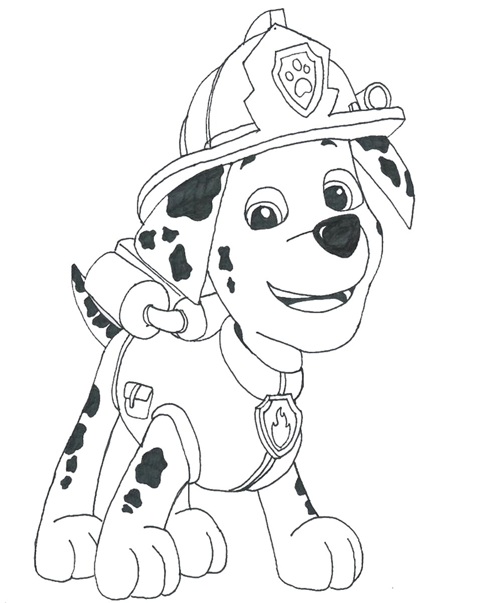 Marshall PAW Patrol Coloring Pages 20 - Print Color Craft