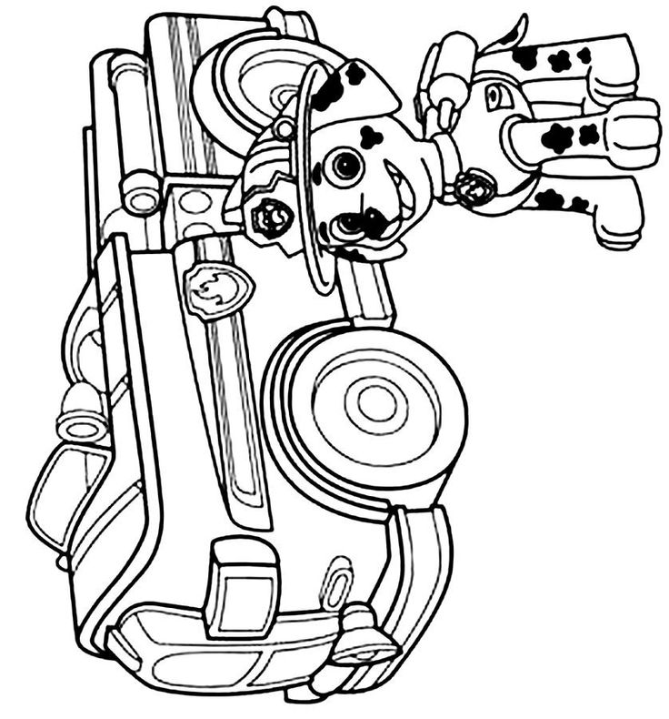 Marshall PAW Patrol Coloring Pages 32 - Print Color Craft
