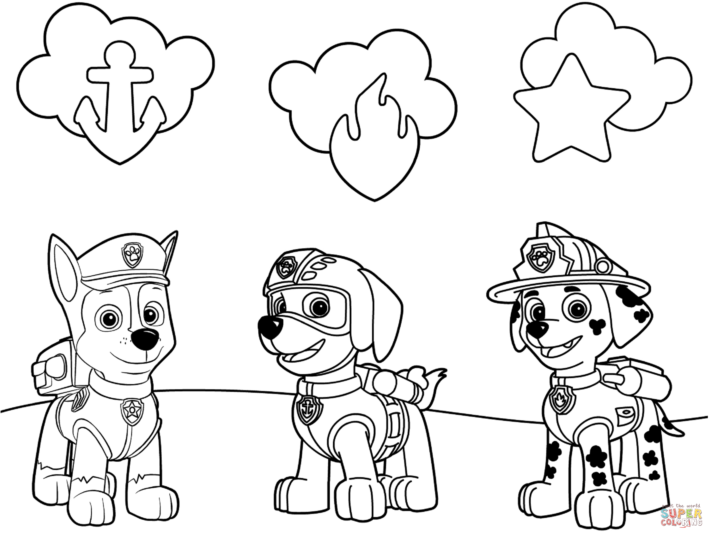 PAW Patrol Badge Coloring Pages Printable 26