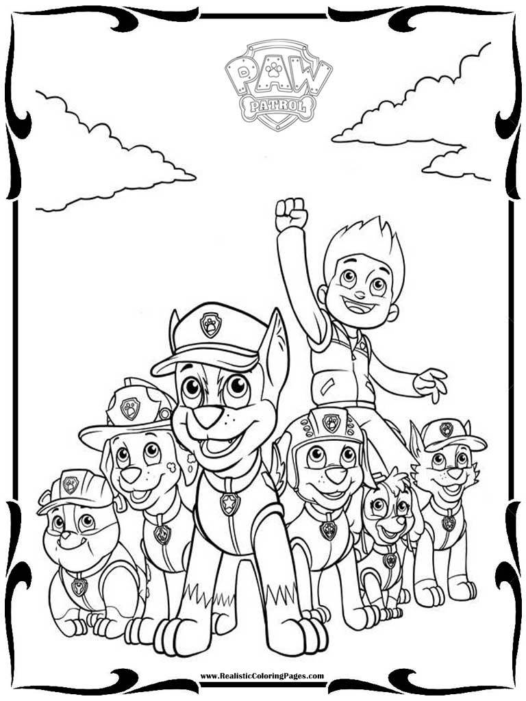 PAW Patrol Characters Coloring Pages 13