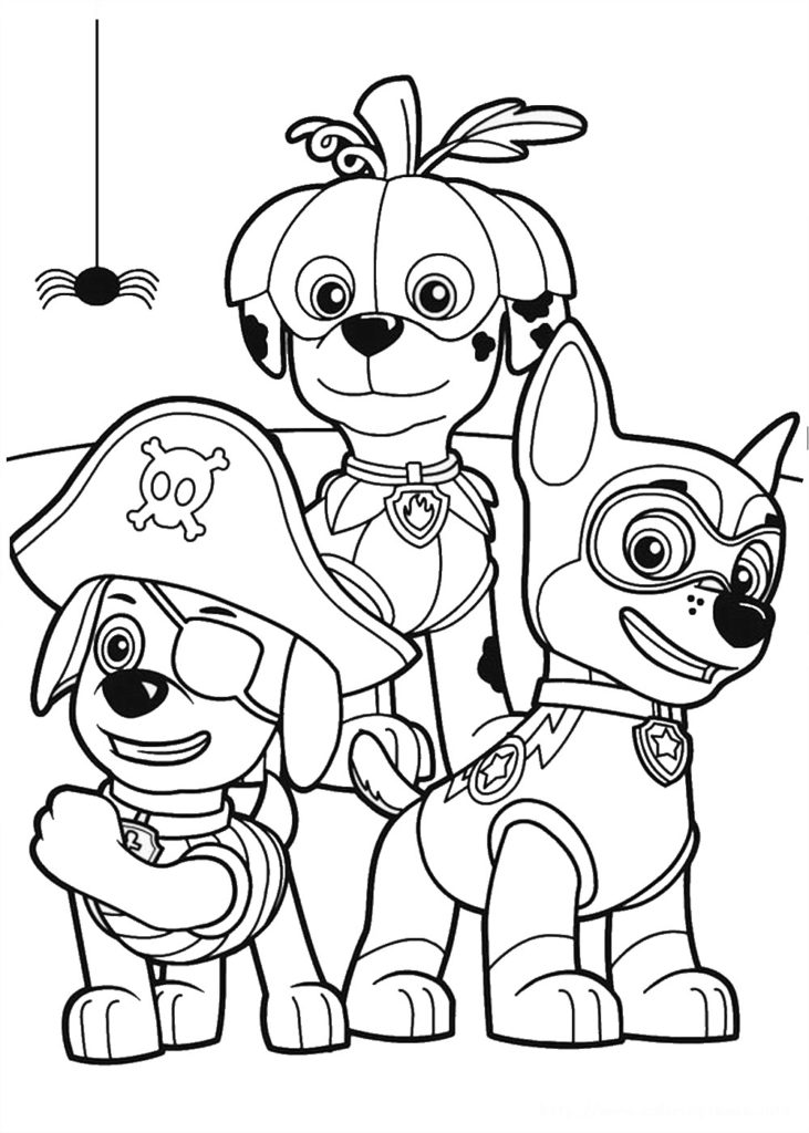PAW Patrol Coloring Pages Printable 23