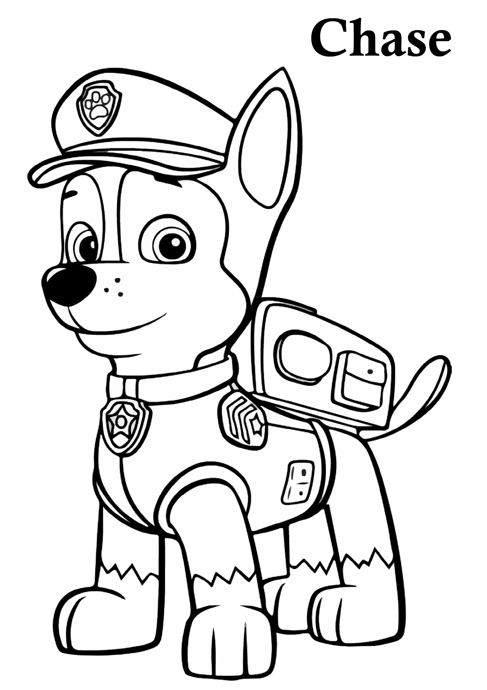 Paw Patrol Coloring Pages Chase