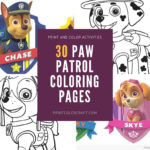 Paw Patrol Coloring Pages {All Characters}