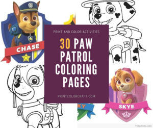 Paw Patrol Coloring Pages {Download All Characters}