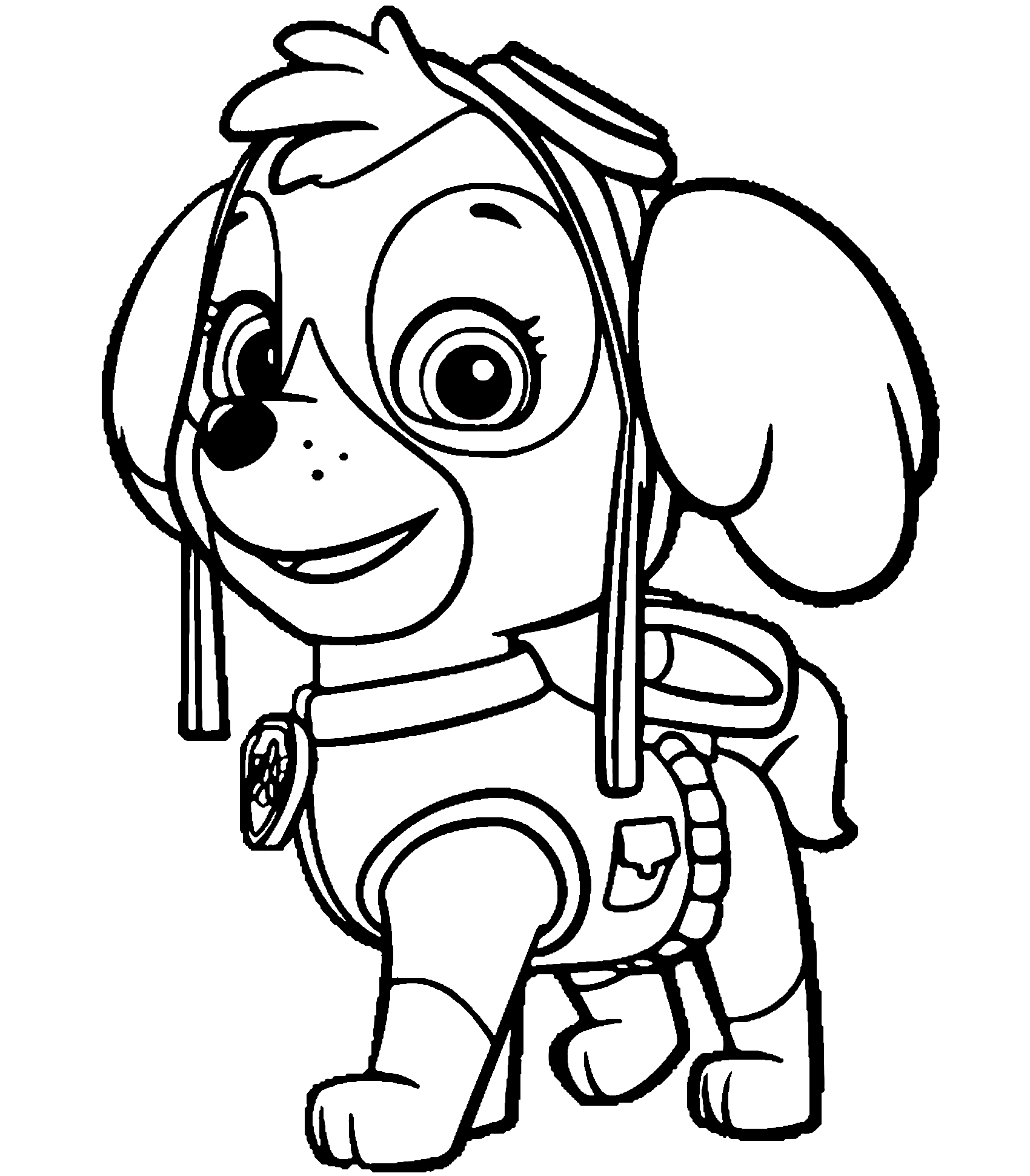 Skye Paw Patrol Coloring Page for Girls