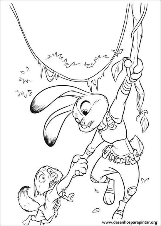 Zootopia Coloring pages 23