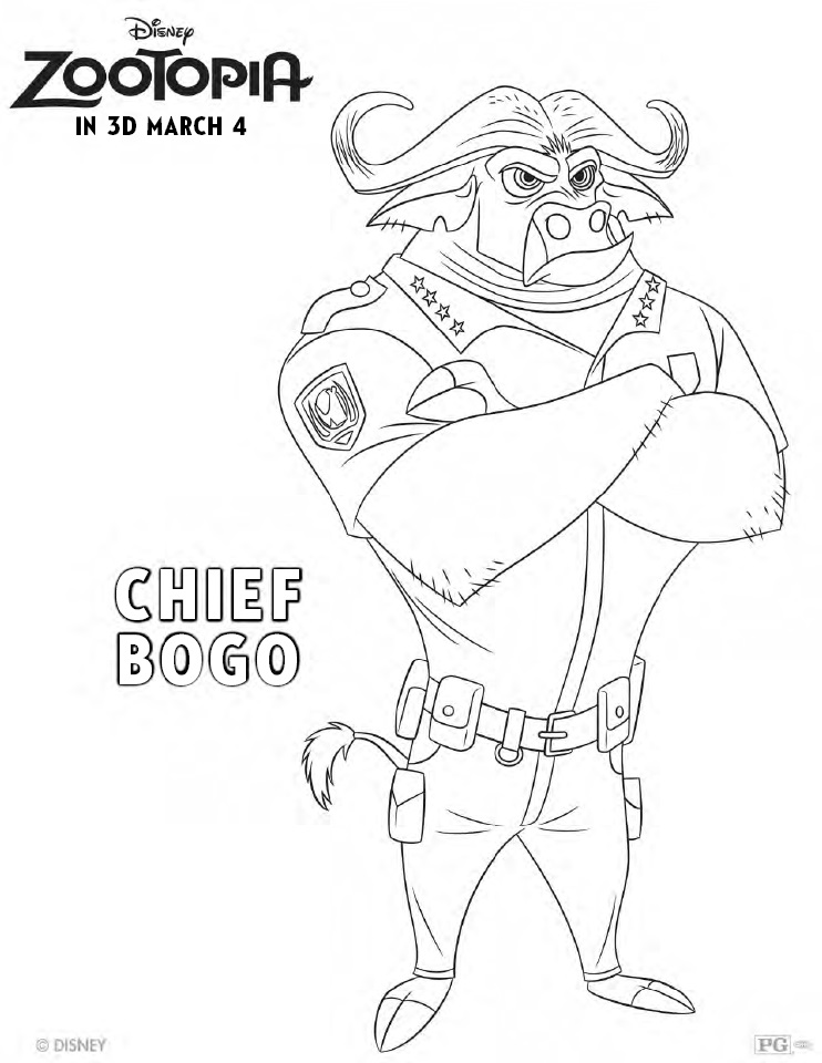 Zootopia Coloring pages 5