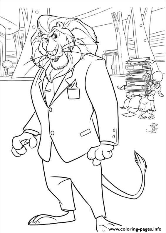 Zootopia Coloring pages Printable20