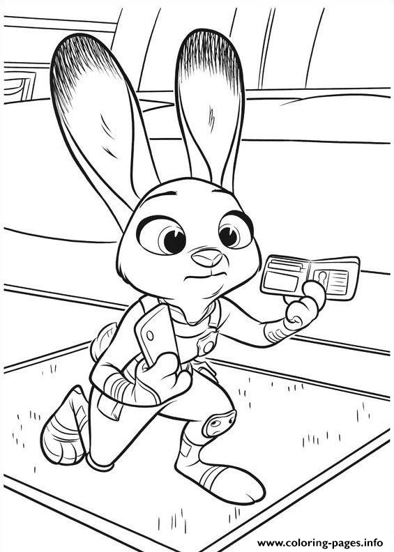Zootopia Coloring Pages Printable30