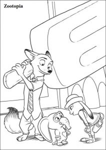 Zootopia Printable Coloring Page