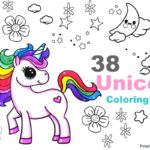 48 Unicorn Coloring Pages for Kids and Adults