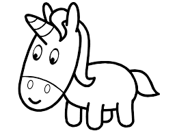 Baby drawing unicorn coloring sheet