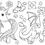 58 Unicorn Coloring Pages for Kids and Adults