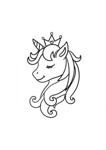 Easy Draw and Color Princess Unicorn Coloring Pages