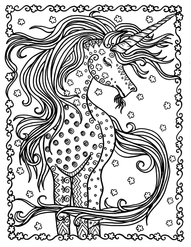 48 adorable unicorn coloring pages for girls and adults print and color. Black Bedroom Furniture Sets. Home Design Ideas