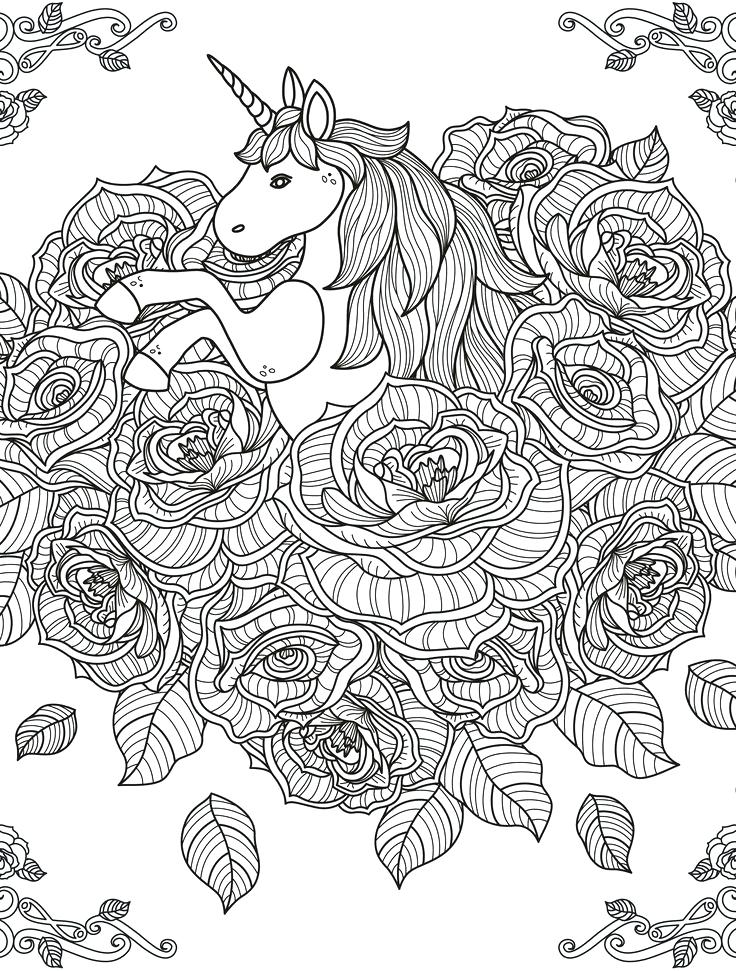 hard coloring pages of unicorns - Coloring Pages Unicorns ...