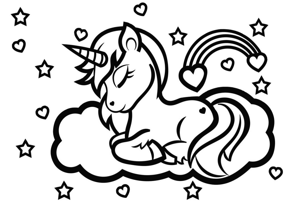 Free Printable Rainbow Unicorn Coloring Pages