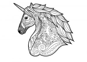 Hard to Color Detailed Unicorn Coloring Pages for Adults