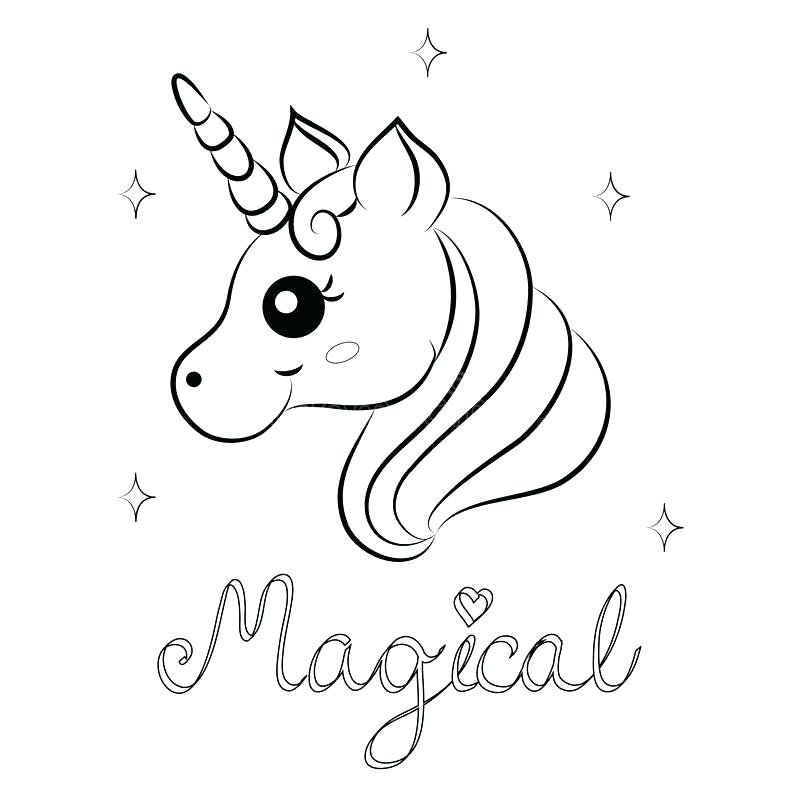 Magical Unicorn and Stars Coloring Pages - Print Color Craft