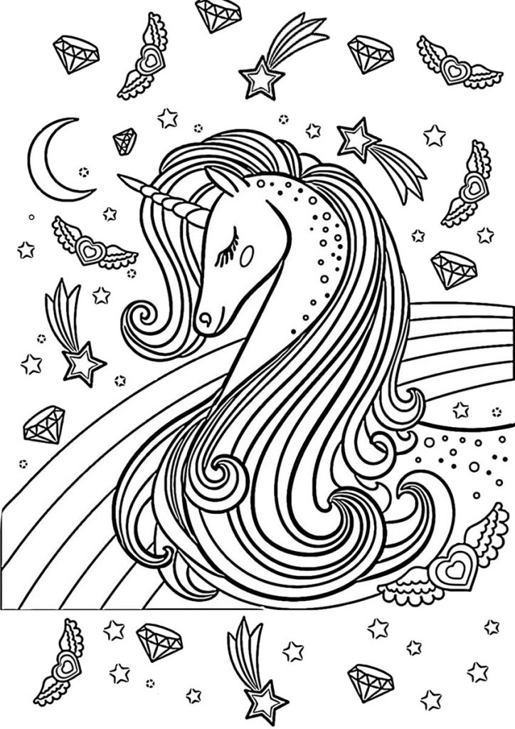 Majestic Unicorn Coloring Pages for Adults