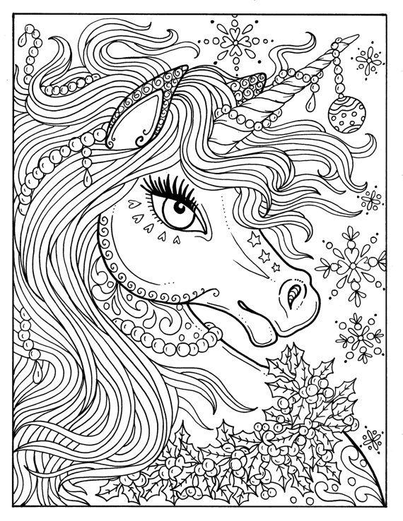 Pinterest Hard Unicorn Coloring Pages - Print Color Craft