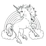 14 unicorn coloring pages
