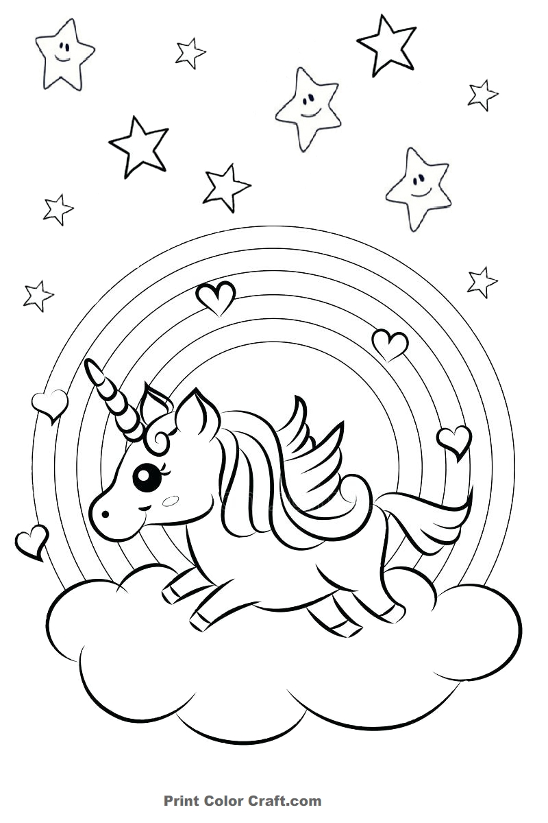 18 Printable Rainbow Coloring Pages: Print and Color - Print Color Craft