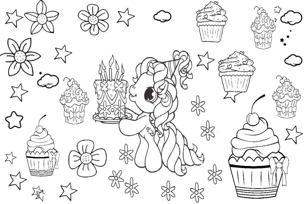 Superb Unicorn Coloring Pages Unicorn Birthday Cake Printable Image Birthday Cards Printable Trancafe Filternl