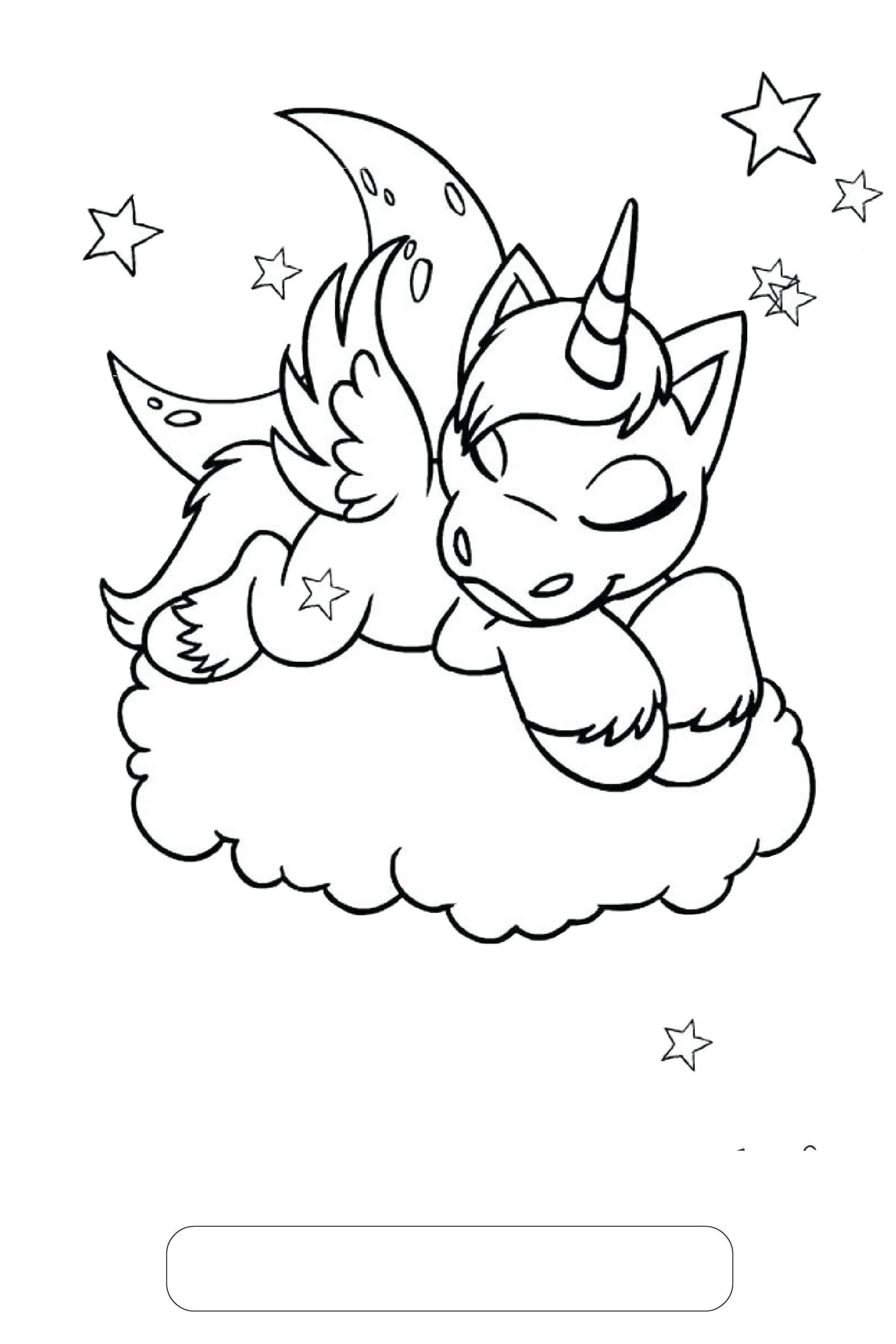 Unicorn coloring pages unicorn sleeping on clouds