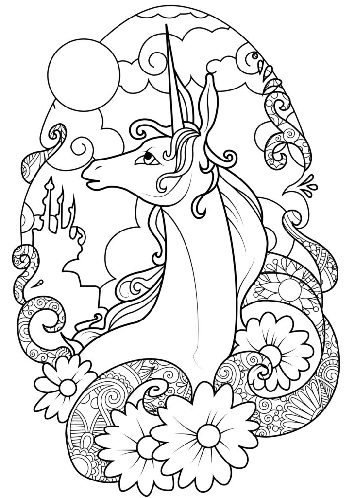 48 Adorable Unicorn Coloring Pages