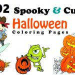 117 Spooky Cute Halloween Coloring Pages for Kids and Adults
