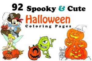 Scary Printable Halloween Coloring Pages | 200x300