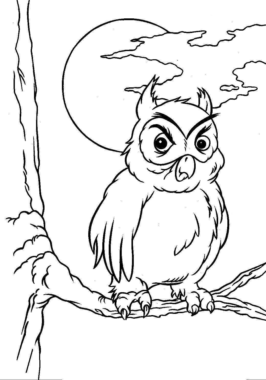Angry Owl Coloring Page for Halloween Activities - Print ...