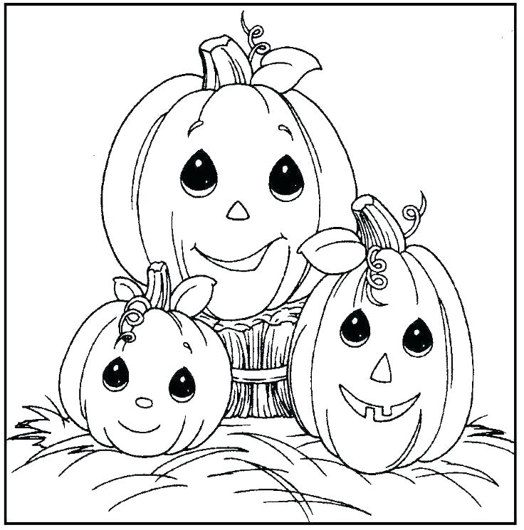 Cute 3 little Pumpkins Print and color Halloween Coloring Sheets ...