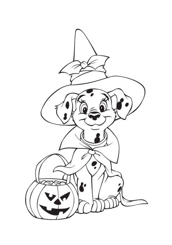 Disney 101 Dalmatians Printable Halloween Coloring