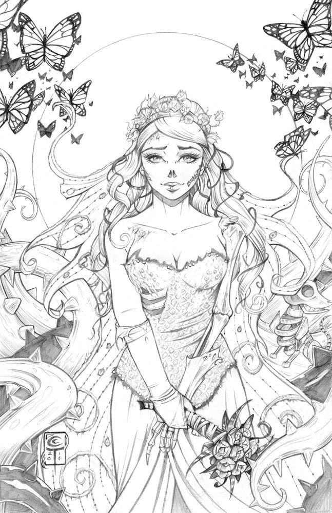 Erotic Corpse Bride Halloween Coloring Images