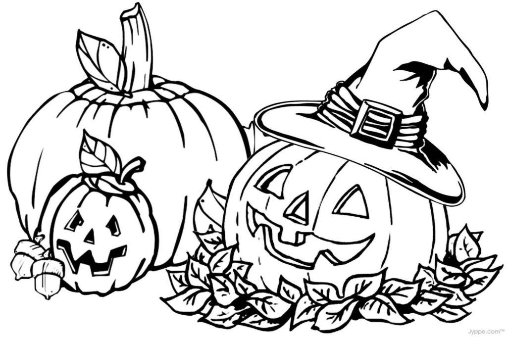 Fall Halloween Pumpkin Coloring Pages for Kids