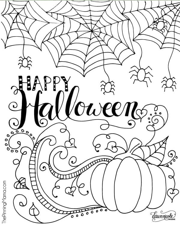 Free Printable Halloween Coloring Pages - Print Color Craft ...