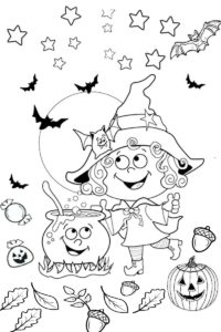 Halloween Cute Witch Coloring Pages