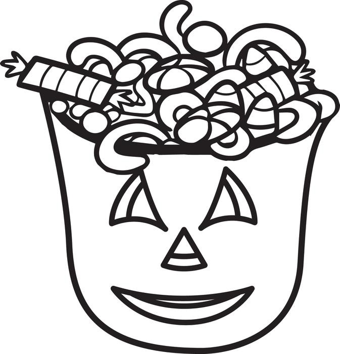 Halloween Party Candy Coloring Easy for Toddlers