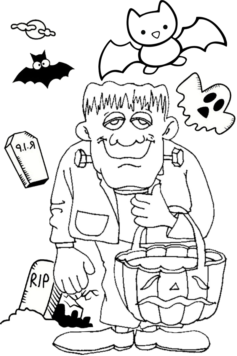 Halloween frankenstein Coloring pages Jack o Lantern pumpkin